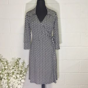 Laundry Chain Link Pattern Wrap Dress